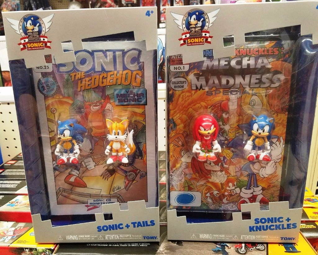 Tomy Sonic The Hedgehog 25th Anniversary Sonic Exclusive Action Figure 2 Pack With Comic Book Usastock Offers Global Stocks