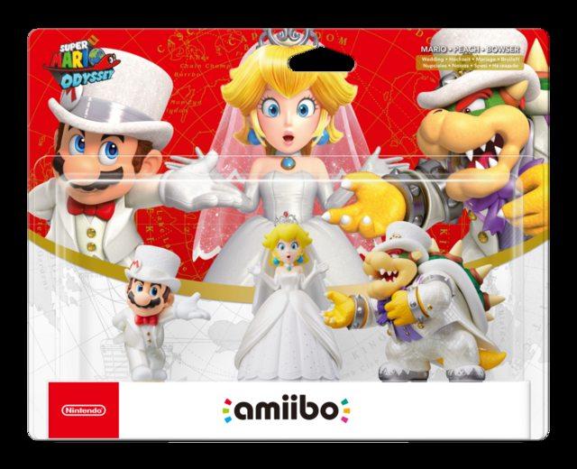 Amiibo Mario Peach Bowser Wedding 3 Pack Super Mario