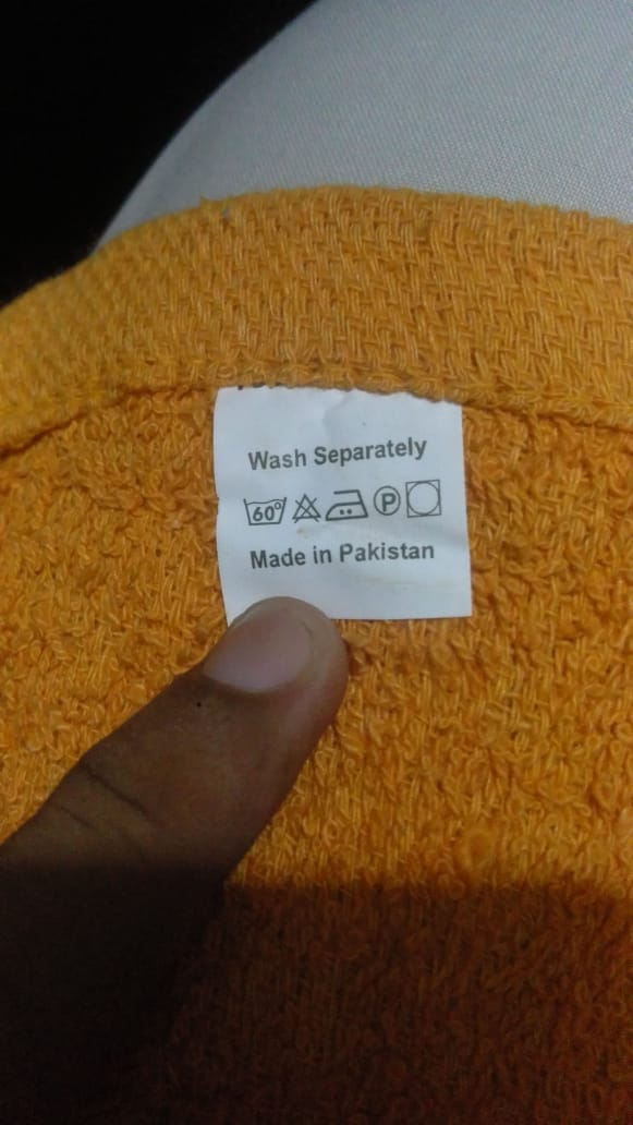 32495 - Stock - Terry Towels - Assorted colours Pakistan