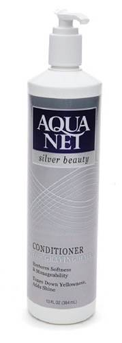 32825 - Aqua Net Silver Beauty Conditioner for Graying Hair 13oz Pump Bottle USA
