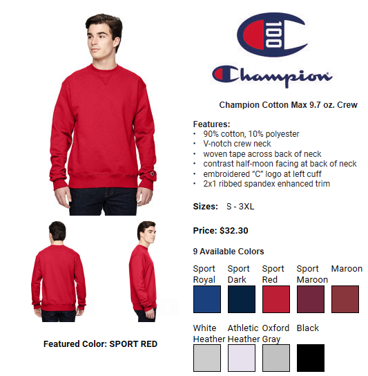 33592 - Champion apparel USA