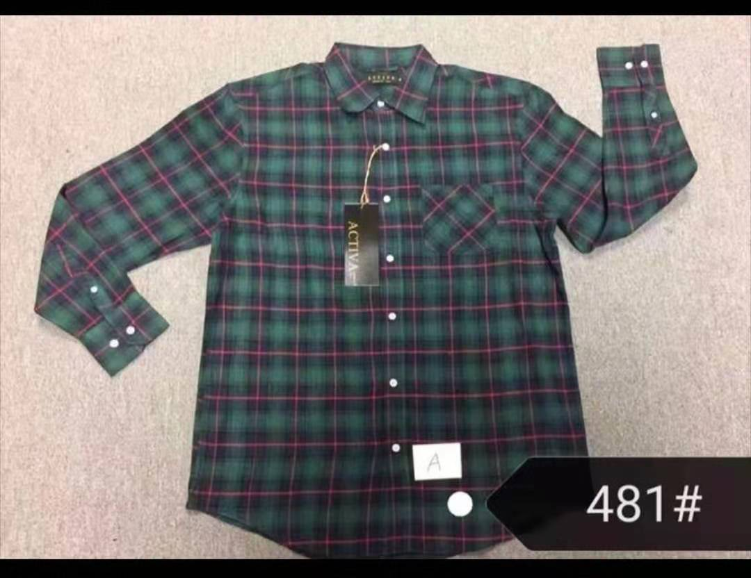 34047 - 5 containers Men's LS shirts in united state USA