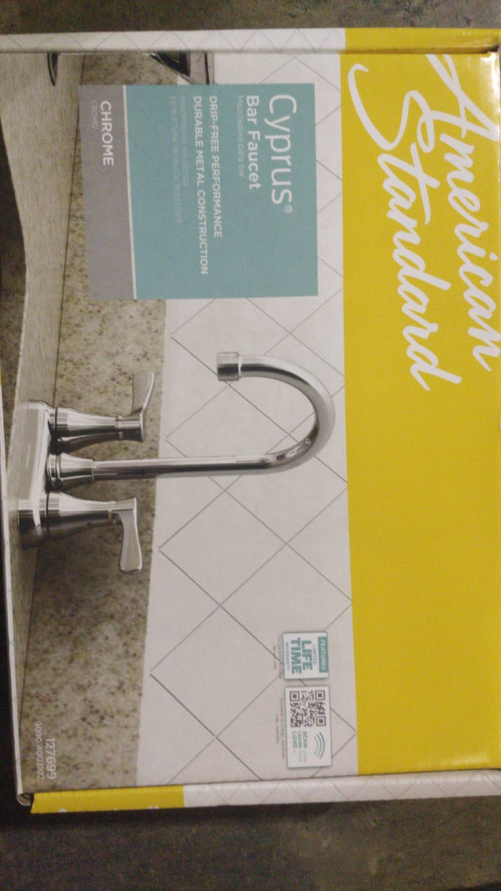 35042 - American Standard Cyprus Polished Chrome Bar Faucet USA