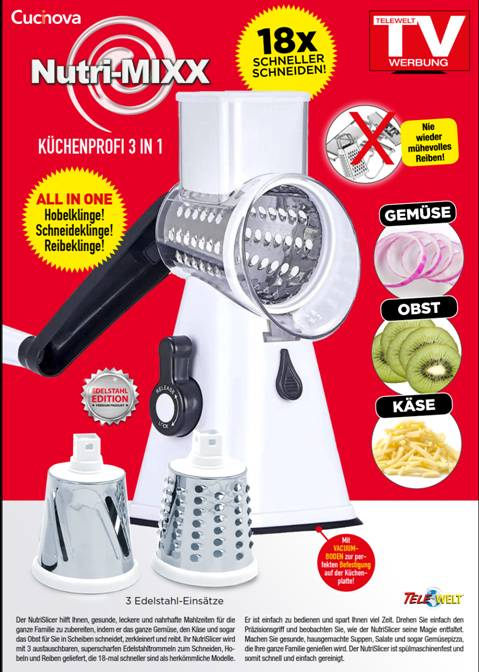 35178 - Kitchen professional 3in1 Nutri-Mixx Europe