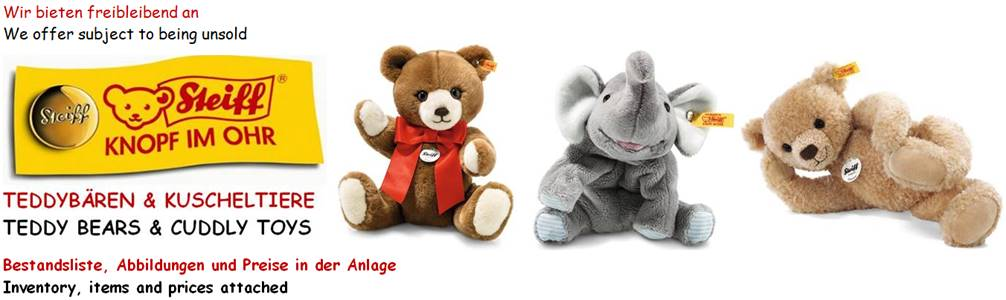 35509 - STEIFF Teddy Bears & Cuddly Toys Europe