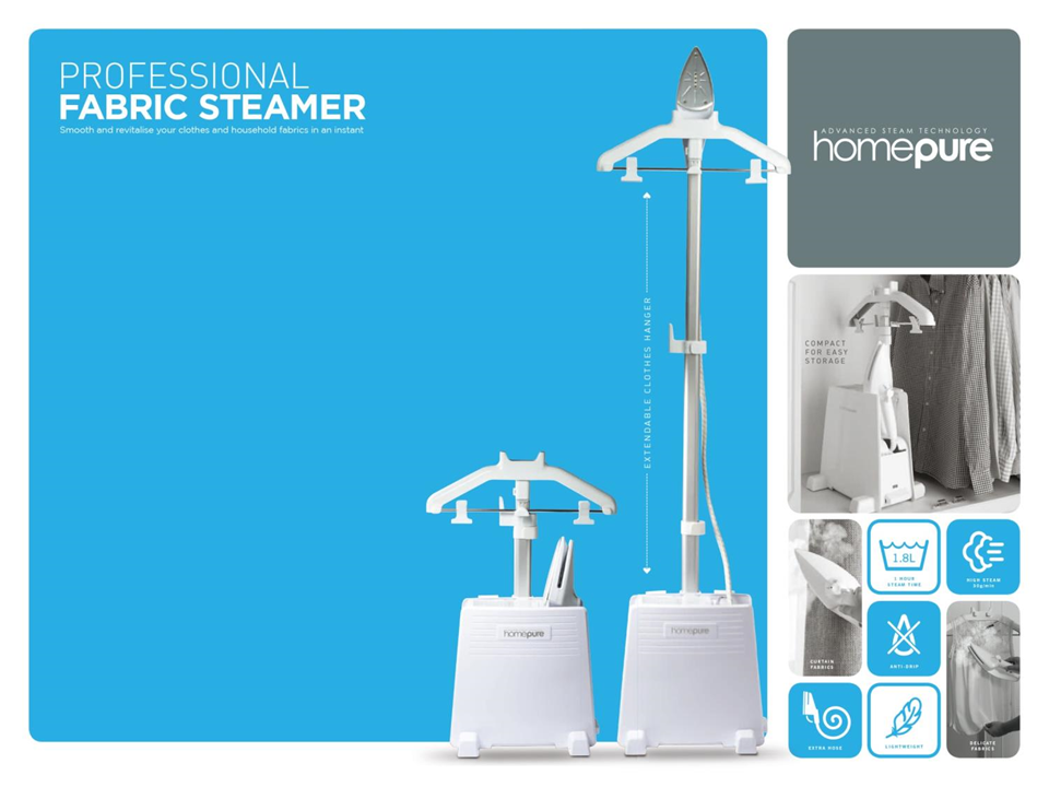 35531 - PROFESSIONAL FABRIC STEAMERS - BRAND NEW Europe
