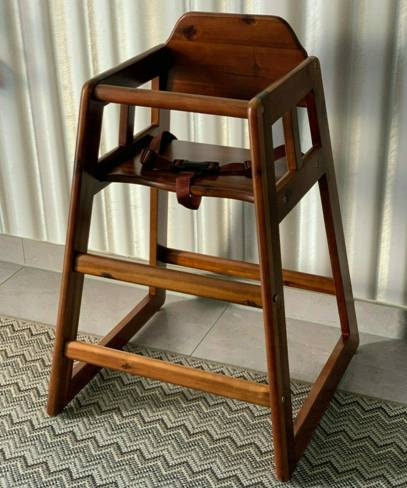 36288 - WINCO baby / children's high chair made of wood only Europe