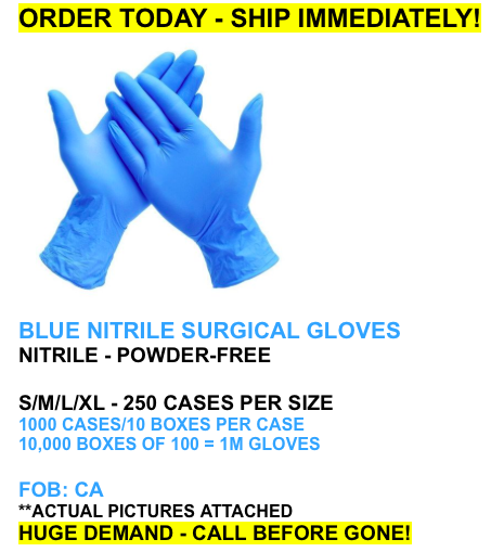 37059 - SPECIAL NITRILE Blue Gloves USA