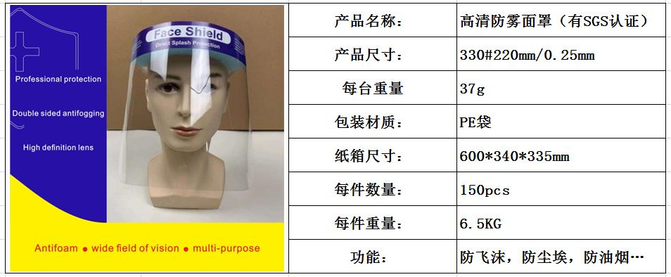 37094 - Face Shield China