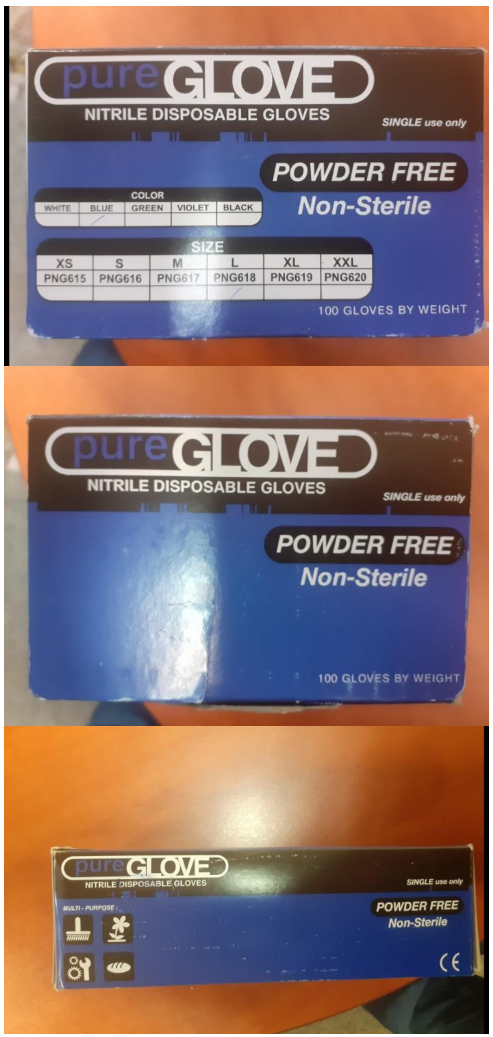 39032 - PURE GLOVE Nitrile Gloves 50K 100/Box on the Ground in Germany, Europe